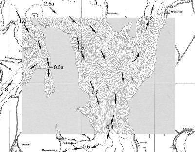 Tidal Currents Of Puget Sound Includes Current Charts And Tide