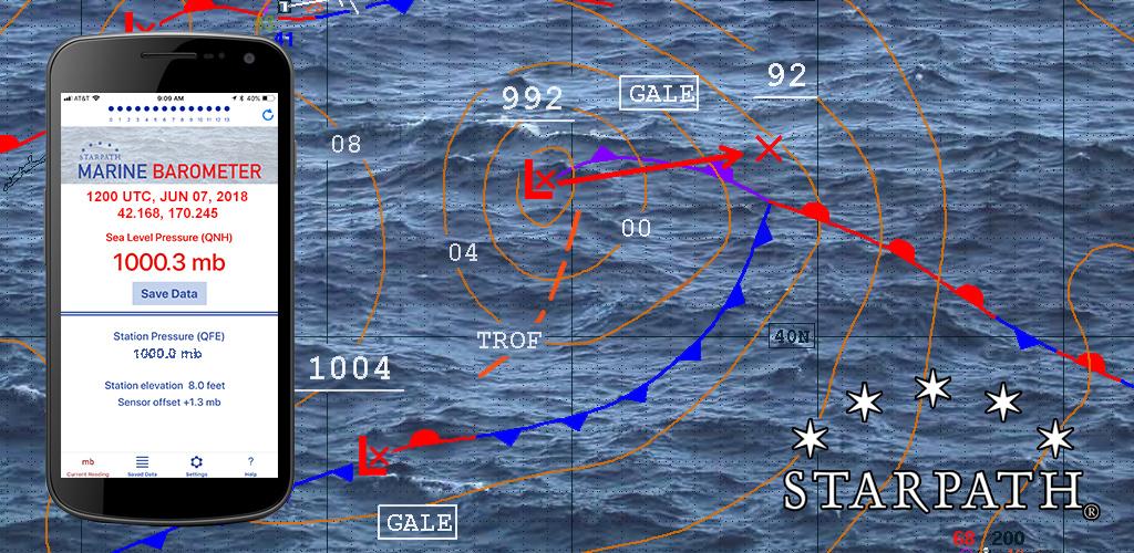 Starpath Marine Barometer app